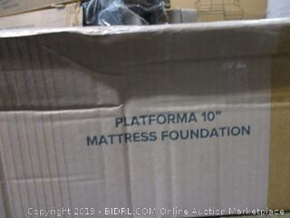 Platforma 10 in. Mattress Foundation Size Full (Box Damaged)