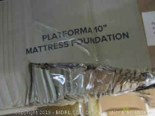 Platforma 10 in. Mattress Foundation Size Queen (Box Damaged)