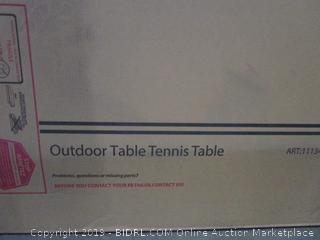 Outdoor Table Tennis Table (Some Boxes May Be Damaged) (Opened for Picturing)