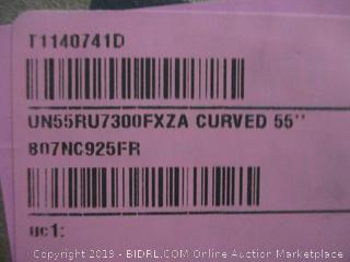 "Samsung Curved 55"" UHD TV"