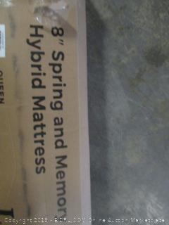 "Linenspa queen size 8"" spring and memory foam hybrid mattress"