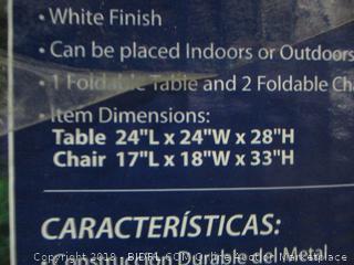 white metal bistro set