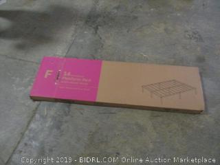 "14"" full size metal platform bed with steel slats"
