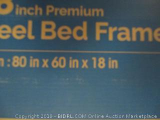 """18"""" premium steel bed frame, queen size"""