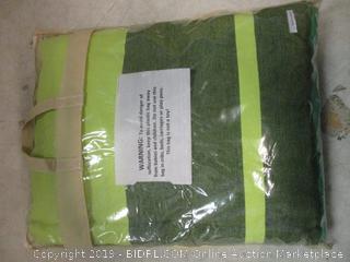 green 1 person cotton hammock