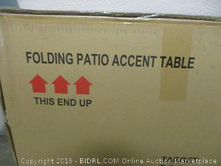 folding patio accent table