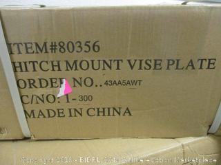 hitch mount vise plate - box damage, factory sealed