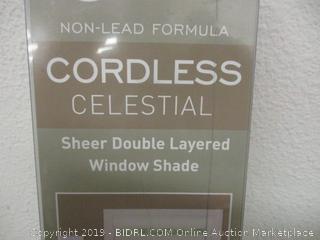 cordless celestial sheer double layered window shade
