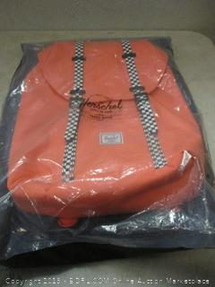 Herschel orange backpack