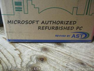 Microsoft Authorized Refurbished PC with keyboard and mouse - missing power cords, damaged