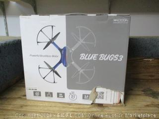 Blue Bugs 3 powerful brushless motor drone - powers on