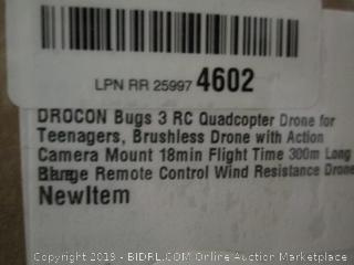 Drocon Bugs 3 RC Quadcopter drone - powers on