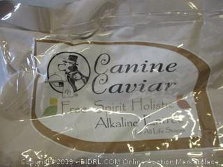 Canine caviar limited ingredient diet dog food -- open bag