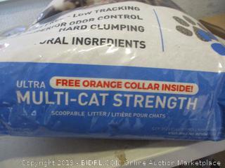 ultra multi-cat strength scoopable litter -- open bag