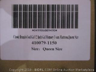 Classic Brands Cool Gel 12 Inch Gel Memory Foam Mattress, Queen