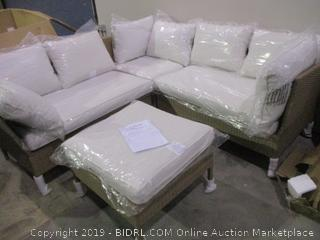 Hampton All Weather 3 Piece Sectional Set with Cushions