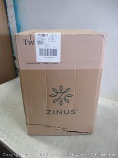 "Zinus Twin 4"" Memory Foam Green Tea Topper New"