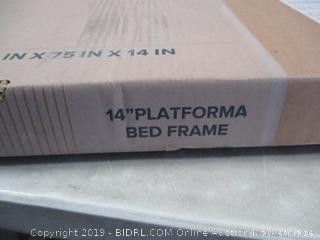 Zinus Metal Full Platform Bed Frame damaged box, possibly incomplete