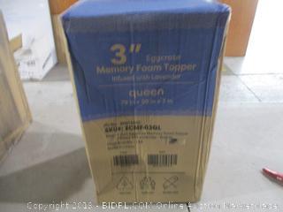 """3"""" eggcrate Memory foam topper queen"""