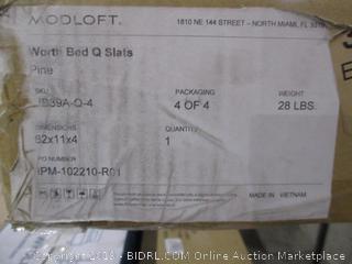 Bed Queen Slats incomplete