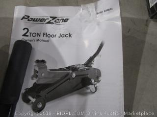 Power Zone floor jack sealed opened for picturing