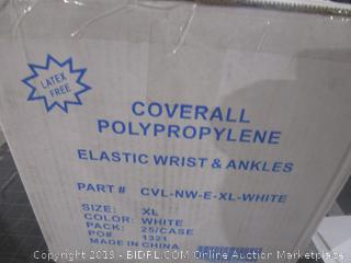 Coverall Polypropylene Elastic Wrist & Ankles