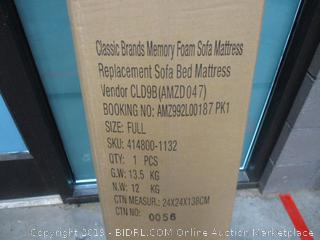 Classic Brands Memory Foam Sofa Mattress  Full