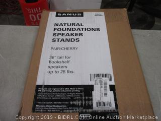 Natural Foundations Speaker Stands