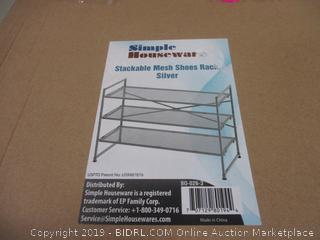 Stackable Mesh Shoe Rack