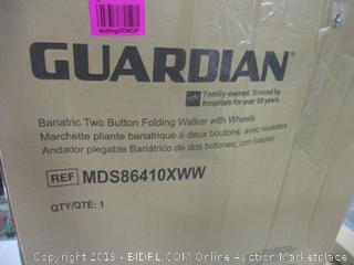 Guardian Bariatric Two Button folding Walker with wheels