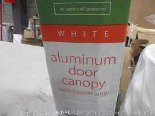 Aluminim Door Canopy with support arms