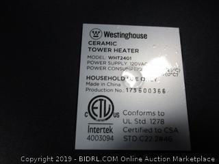 Westinghouse Digital Ceramic Tower Heater