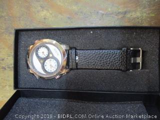 Men Dual Time Quart watch