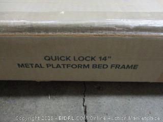 """Zinus Quick Lock 14"""" Metal Platform Bed Frame, Queen"""
