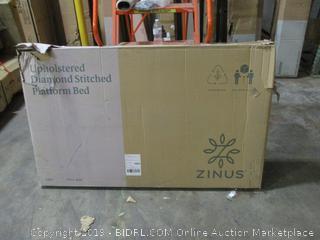 Zinus Uphostered Diamond Stitched Platform Bed, Full