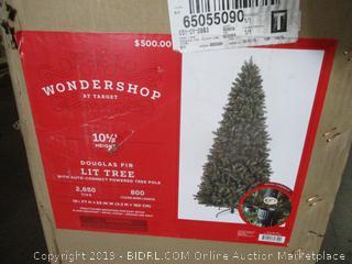 Douglas Fir Lit Tree (Retail $500.00)