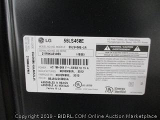 "LG 55"" Flat Screen TV 2012 Model"