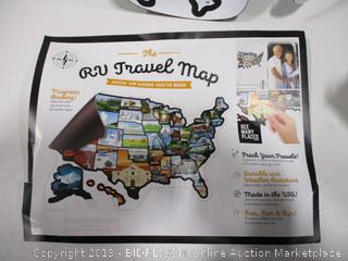RV Magnetic Travel Map