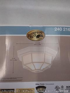Hampton Bay 240216 Outdoor Flush Mount Ceiling Light Fixture (Online $36.97)