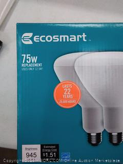 EcoSmart LED Flood Light Bulb 75 Watt Equivalent BR40 Dimmable (Online $10)