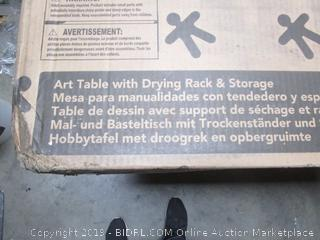 Kid Kraft Art Table With Drying Rack & Storage (retail $115)