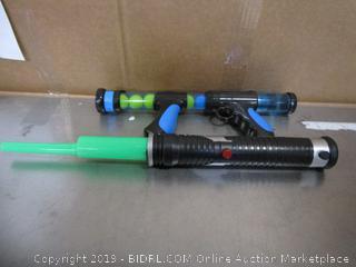 Toy Gun & Light Saber