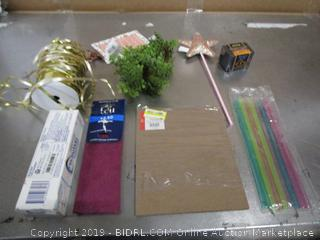 Misc. Lot Straws, Toothpaste, Star