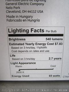 GE 65w Bulbs