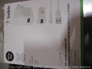 Belkin Car Charger/ Vivitar USB Wall Charger