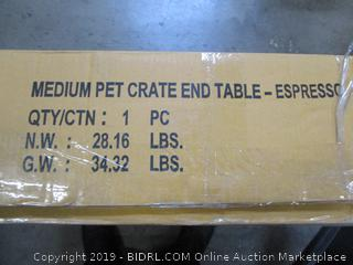 Medium Pet Crate End Table
