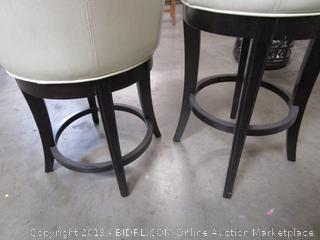 Pair of Round Barstool Chairs