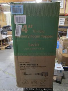 Memory Foam Twin Topper