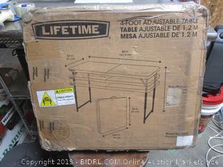 Lifetime Adjustable Table (please preview)