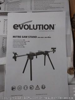Evolution mites saw stand supplied with adjustable work support arm